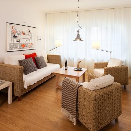 Zimmer 1 im Haus am Giebel, Wohnraum mit Fernseher